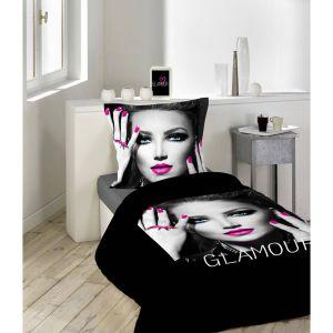 Glam Chic Rose - Housse de couette avec taie (140 x 200 cm)