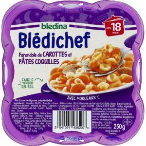 Blédina Bledichef 260g farandole de carottes et pâtes coquilles dès 18 mois