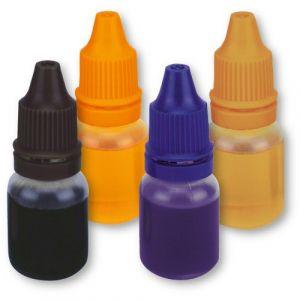 Städter Lot de 4 colorants alimentaires liquides Noir/violet/orange/doré