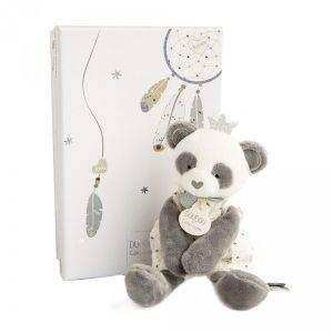 Doudou et Compagnie Peluche bébé pantin panda attrape-rêve