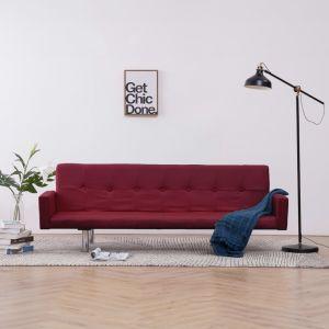 VidaXL Canapé-lit avec accoudoir Rouge bordeaux Polyester