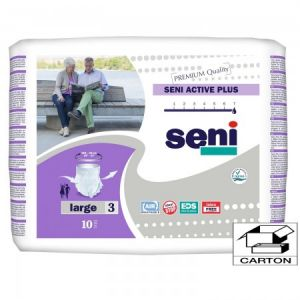 Seni Active Plus , taille Large (Carton 80 slips absorbants)