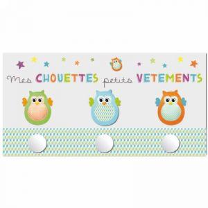 Titoutam Patère 3 boules Chouette