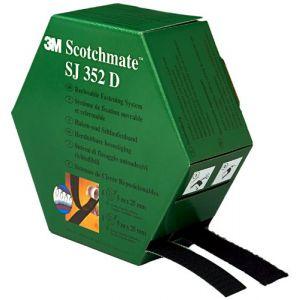 3M SJ352D - Bande de Velcro crochet et mousse Scotchmate