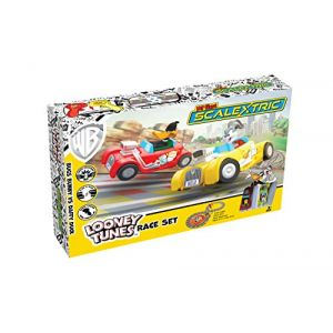 Scalextric Micro My First Looney Tunes with Bugs Bunny vs Daffy Duck Battery Powered Race Set