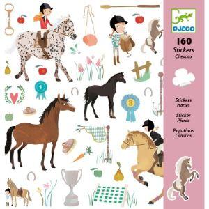 Djeco 160 stickers Les chevaux