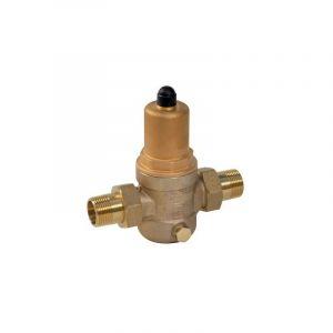 Thermador Réducteur de pression d'eau filtre incorporé 1''1/4 - Bronze - Mâle/Mâle - 1 à 8 bar