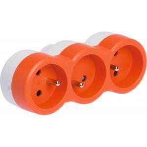 Legrand Fiche multiprise 16 A 3x2 P+T 3 sorties frontales orange - LEG50507