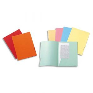 Exacompta Chemises 2 rabats Rock's 250 - carte 210g - 24 x 32 cm - coloris assortis - paquet de 50