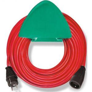 Brennenstuhl Rallonge rouge 15m H05VV-F 3G1.5 avec support mural