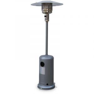 Alice's Garden Chauffage d&apos extérieur à gaz, parasol chauffant de terrasse SIBERIA 12kW Gris clair avec roulettes