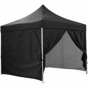 Greaden Tente pliante noire avec 4 murs amovibles 3x3m PREMIUM LIGHT - Tube