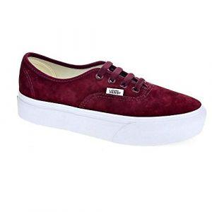Vans Chaussures Femme Baskets Basses avec Plate-Forme VN0A3AV8S3N Authentic Platform Taille 40 Bordeaux