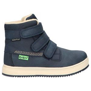 Kickers Yepokro WPF, Sneakers Haute Garçon, Marine, 36