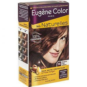Eugène Color Les Naturelles N°56 Châtain Clair Auburn - Crème colorante permanente