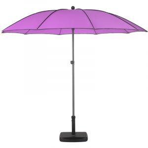 Hesperide Parasol droit rond Bogota - Inclinable - Diam. 250 cm - Violet