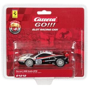 Carrera Toys 61212 - Ferrari 458 Italia GT2 Hankook team Farnbacher 2011 n°123 pour circuit Go!!!