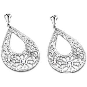 Lotus LS1663-4-1 - Boucles d'oreilles en argent Fleur Ajourée