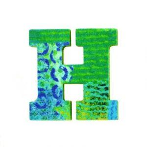 Djeco Lettre décorative en bois Paon : H