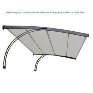 Proloisirs Bora Armature Tonnelle Adossée 4x2,8m Acier Epoxy Grey