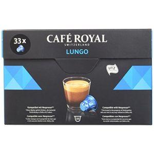 Café Royal Lungo - 33 Capsules Compatibles avec le Système Nespresso