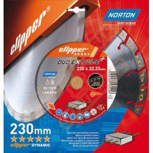 Norton clipper Disque diamant Duo Extreme+ Ø 230mm Alésage 22.23 mm- 70184647720