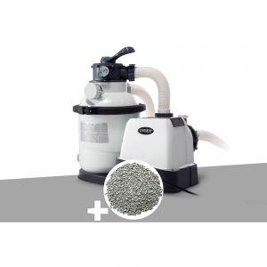 Intex Groupe de filtration à sable 4 m³/h + 10 kg de zéolite