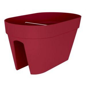 Loft URBAN Pot cavalier - Ø50 cm - Fruits rouges - Réservoir d'eau - Balustrades jusqu'à 6 cm de large - 2 fixateurs - Stabilisateur - Résistant au gel