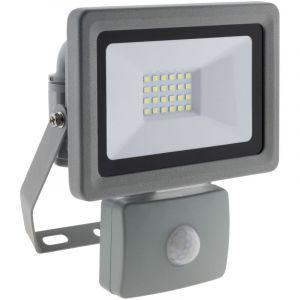 Elexity Projecteur LED 20W Gris avec détecteur - IP44 CE
