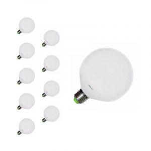 Silamp Ampoule E27 LED 20W 220V G120 300° (pack de 10) - Blanc Froid 6000K - 8000K -