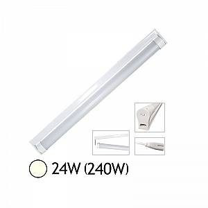 Vision-El Tube LED 24W (240W) T8 1500 mm Blanc jour 4000°K dépoli + support chainable