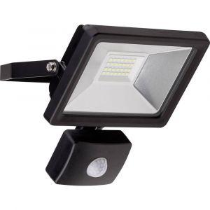 Goobay Projecteur LED extérieur avec détecteur de mouvements blanc lumière du jour noir