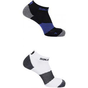 Salomon Speed - Chaussettes course à pied - 2 Pack blanc/noir EU 45-47 Chaussettes Running