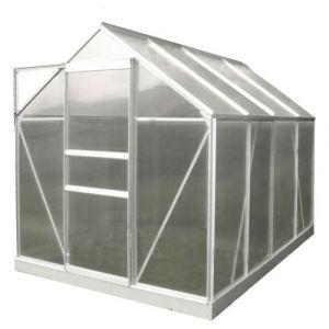 Chalet et Jardin Serre en polycarbonate et aluminium naturel 4,8 m² avec base - LA MAISON DU JARDIN
