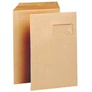 Majuscule 250 pochettes kraft 22,9 x 32,4 cm avec fenêtre 5 x 10 cm (90 g)