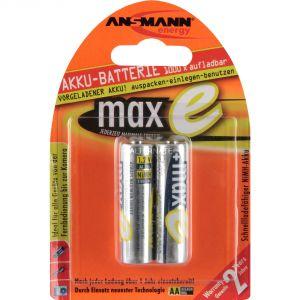 Ansmann 2 Piles rechargeables maxE 2100 mAh AA