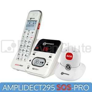 Geemarc Amplidect 295 - Téléphone sans-fil avec médaillon d'alerte