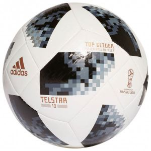 Adidas Ballon Coupe du Monde 2018 Telstar 18 Top Glider - Blanc/Noir/Argenté