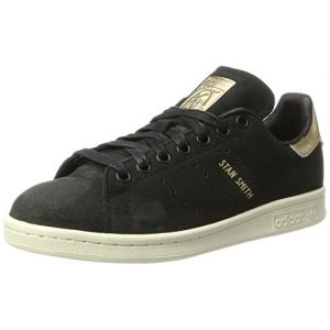 Adidas Stan Smith Baskets Basses Femme, Noir Core Black/Supplier Colour, 43 1/3 EU