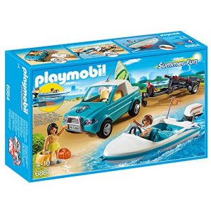 Playmobil 6864 Summer Fun - Voiture avec bateau et moteur submersible