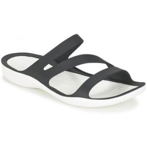Crocs Swiftwater Sandal W, Sandales Femme Noir/Blanc, 41-42 EU