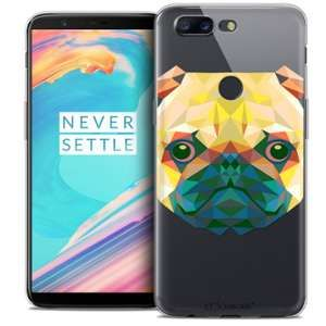 CaseInk Coque Gel OnePlus 5T (6 ) Extra Fine Polygon Animals - Chien