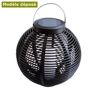 Mundus Lanterne solaire ronde tressée Ø42 cm