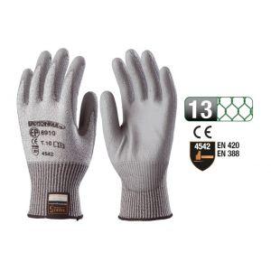 Euro Protection Gant anti coupure multifibre 5 paumes enduit pu gris taille 09 : 6909