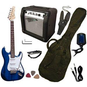 Vision Instruments Pack guitare électrique, ampli 15W, accordeur électronique (7 accessoires)