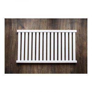 AZURE | Radiateur eau chaude design horizontal Acier 54x98 cm Puissance 652W | Radiateur 16 lames chauffage central Entraxe 500mm | Blanc TROUV