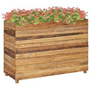VidaXL Jardinière 100x40x72 cm Bois de teck recyclé et acier