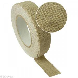Graine Créative Ruban de tissu adhésif Lin naturel 17 mm x 2,5 m