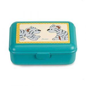 Sterntaler Boîte à pain en fer-blanc en peluche tigre de zoo Tapsi multicolore