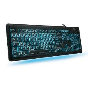 Advance Keylight LED (CLA-EL605) - Clavier slim rétro-éclairé 3 couleurs filaire USB